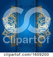 Decorative Blue And Gold Background