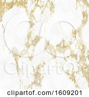 Elegant Marble Texture Background With Gold Highlights