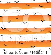 Halloween Background With Grunge Stripes And Bats