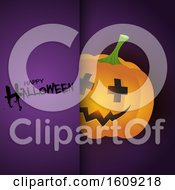Halloween Background With Cute Pumpkin