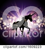Unicorn On Starburst Background by KJ Pargeter