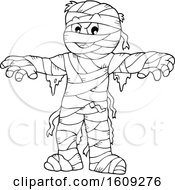 Lineart Mummy Holding His Arms Out