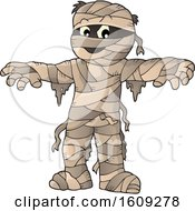 Clipart Of A Mummy Holding His Arms Out Royalty Free Vector Illustration by visekart