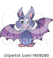 Clipart Of A Flying Vampire Bat Royalty Free Vector Illustration by visekart