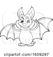 Black And White Flying Vampire Bat