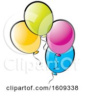 Clipart Of Colorful Party Balloons Royalty Free Vector Illustration by Lal Perera