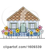 Clipart Of A Pre School Building Or House Royalty Free Vector Illustration by Lal Perera