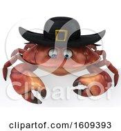 3d Breton Crab On A White Background