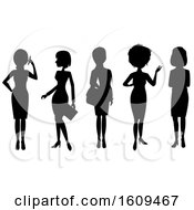 Clipart Of Silhouetted Business Women Royalty Free Vector Illustration