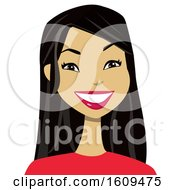 Clipart Of A Happy Asian Woman Avatar Royalty Free Vector Illustration