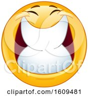Poster, Art Print Of Yellow Smiley Emoji Grinning