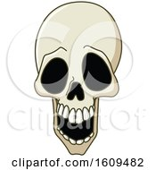 Clipart Of A Laughing Human Skull Royalty Free Vector Illustration