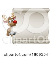 Christmas Reindeer Cartoon Sign