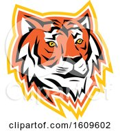 Clipart Of A Bay Of Bengal Tiger Mascot Royalty Free Vector Illustration by patrimonio