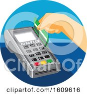 Hand Swiping A Credit Card In A Terminal