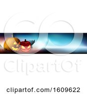 Clipart Of A Halloween Website Banner Design Royalty Free Vector Illustration