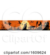 Clipart Of A Horizontal Halloween Border Royalty Free Vector Illustration
