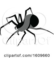 Poster, Art Print Of Halloween Spider Black And White Silhouette