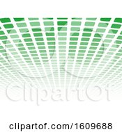 Clipart Of A Green Grid Or Tile Background Royalty Free Vector Illustration