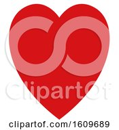 Clipart Of A Red Heart Royalty Free Vector Illustration