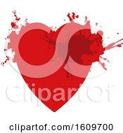 Poster, Art Print Of Red Grungy Splatter Heart