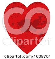 Poster, Art Print Of Red Grungy Heart