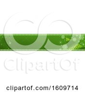 Clipart Of A Green Christmas Website Banner Design Royalty Free Vector Illustration
