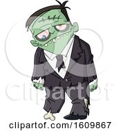 Male Zombie In A Suit
