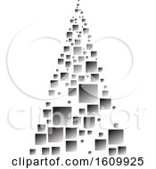Clipart Of A Silver Christmas Tree Royalty Free Vector Illustration