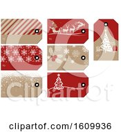 Clipart Of Christmas Gift Tags Royalty Free Vector Illustration