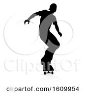 Skater Skateboarder Silhouette by AtStockIllustration