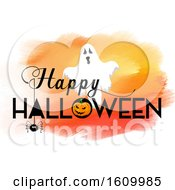 Halloween Background With Watercolour Texture