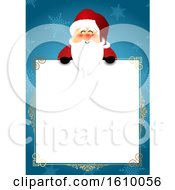 Christmas Sign With Santa