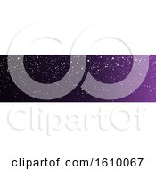 Purple Christmas Or Winter Website Banner