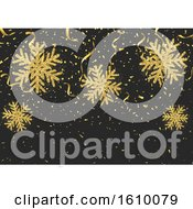 Poster, Art Print Of Glitter Style Snowflakes Confetti And Streamers