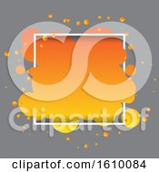 Abstract Bubble Shape On White Frame