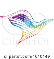 Clipart Of A Sketched Colorful Eagle Royalty Free Vector Illustration by cidepix