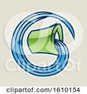 Clipart Of A Cartoon Styled Green Aquarius Bucket Icon On A Beige Background Royalty Free Vector Illustration by cidepix