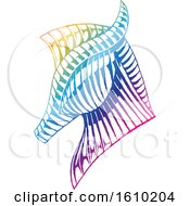 Poster, Art Print Of Sketched Colorful Horse Head