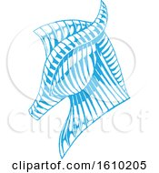 Poster, Art Print Of Sketched Blue Horse Head
