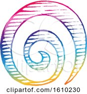 Poster, Art Print Of Sketched Colorful Spiral Galaxy