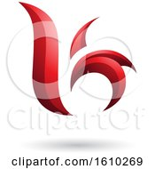 Clipart Of A Red Letter B Or K Royalty Free Vector Illustration