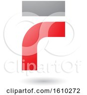 Clipart Of A Red And Gray Letter F Royalty Free Vector Illustration