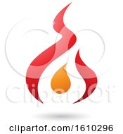 Poster, Art Print Of Red And Orange Letter A Shaped Design