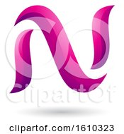 Clipart Of A Magenta Letter N Royalty Free Vector Illustration
