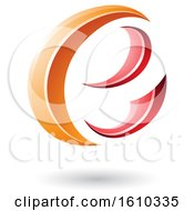 Clipart Of A Red And Orange Letter E Royalty Free Vector Illustration
