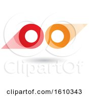 Clipart Of A Red And Orange Abstract Double Letter O Or Binoculars Design Royalty Free Vector Illustration