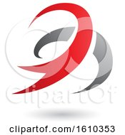 Clipart Of A Red And Gray Twister Royalty Free Vector Illustration
