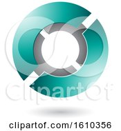 Clipart Of A Persian Green Futuristic Sphere Royalty Free Vector Illustration