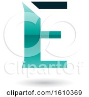 Clipart Of A Persian Green Letter E Royalty Free Vector Illustration